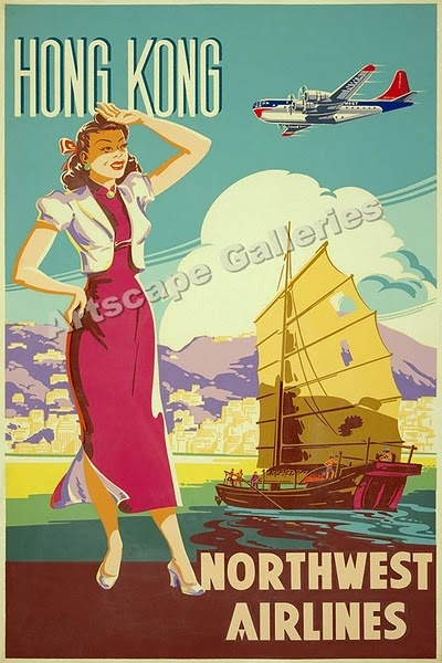 Love vintage travel posters that don't have to be PC