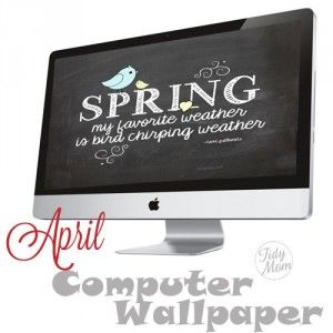 FREE April Background Wallpaper at TidyMom.net