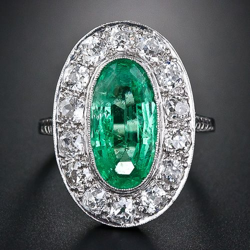 Emerald and Diamond ring, Gorgeous! #Antique#Vintage#Ring
