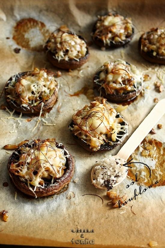 Mushrooms with truffle salt