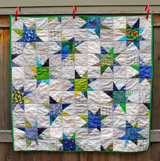 Wonky star quilt