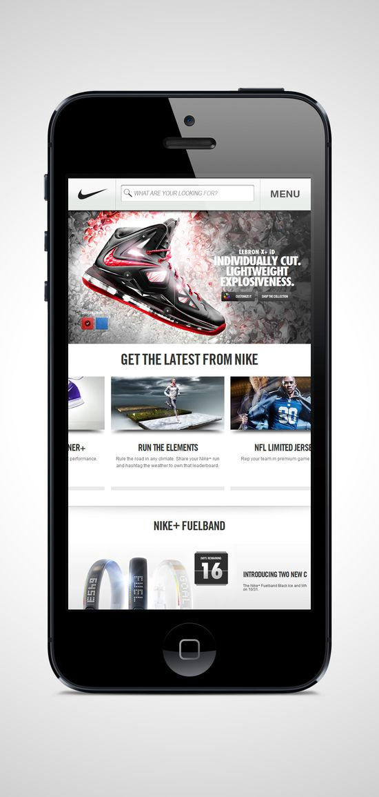 #nike #iphone5 #mobile #ui