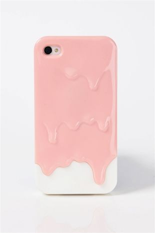 ice cream dripping iphone case.. way cool
