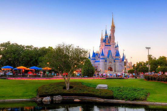 Cinderella's Castle at Sunset.