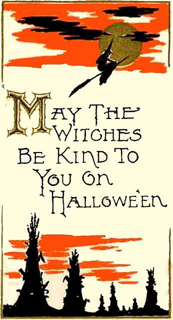 ...and the rest of the year, too! :) #vintage #Halloween #card #witch