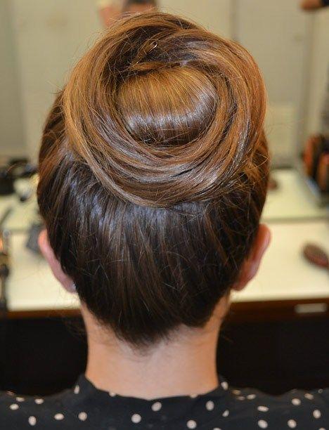 Cinnabun hair style