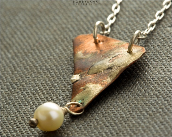 Sterling Silver & Copper Landscape Necklace - Jewelry by Jason Stroud.