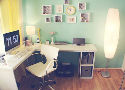 Love this Home Office. MadeByGirl: Jessica's Home Office Re-do...