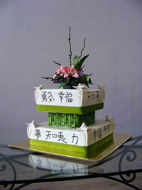 ikebana cake by bubolinkata, via Flickr