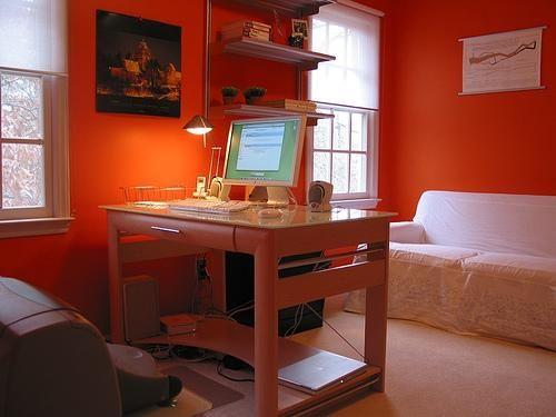 Home office idea, Orange?