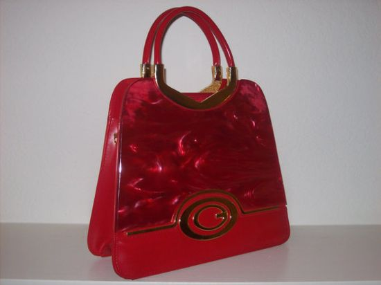 Red Lucite Handbag