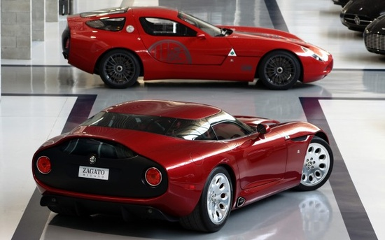 Coachbuilder Zagato has revealed the final versions of its TZ3 sports cars, which pay tribute to the 100-year anniversary (1910-2010) of Alfa Romeo. The TZ3 Corsa was shown off as a one-off concept at the Villa d'Este Concours in Italy last year, and spawned a road-going model to be made in seriously small quantities.