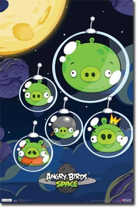 Angry Birds Space - Pigs Poster