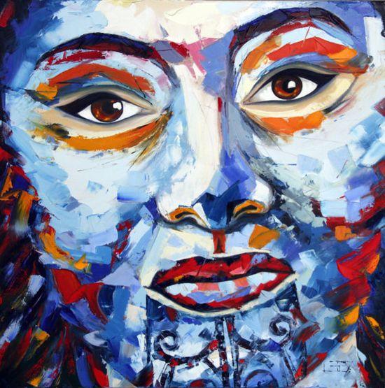#Palette Knife Painting #Art #Pop #Texture #Maori