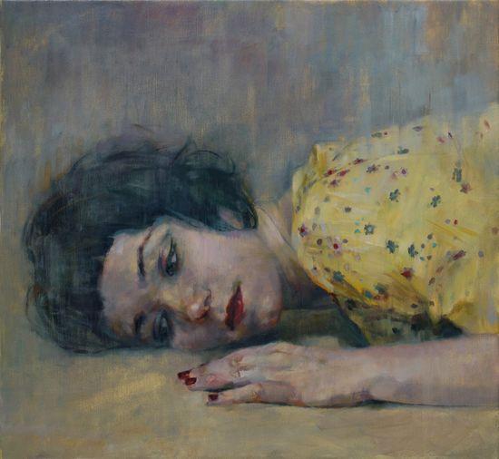 Listener 4 painting by Shaun Ferguson