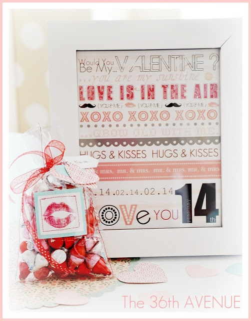 Valentine Kisses Bag Tutorial and Free Printable. { the36thavenue.com }