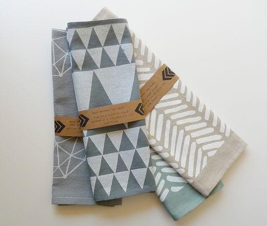 tea towels by Erin Dollar