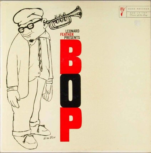 Leonard Feather Presents BOP album cover with trumpet