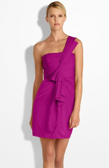 #BCBGMAXAZRIA Drape Front One Shoulder Satin Dress #Nordstrom #Wedding #Bridesmaid  shoulder dresses  #2dayslook #shoulder style # shoulderfashion  www.2dayslook.com