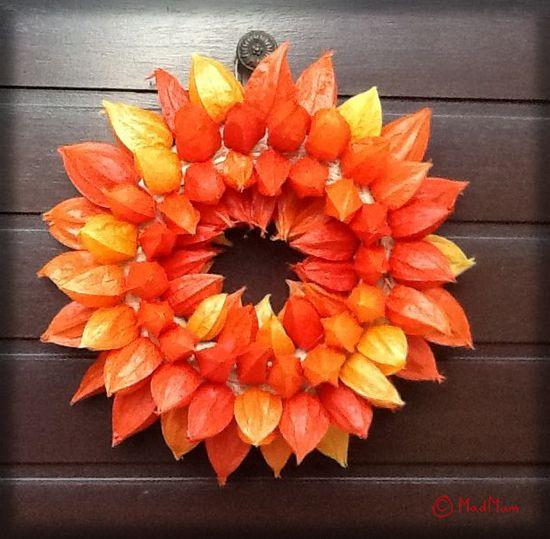 Physalis Wreath DIY