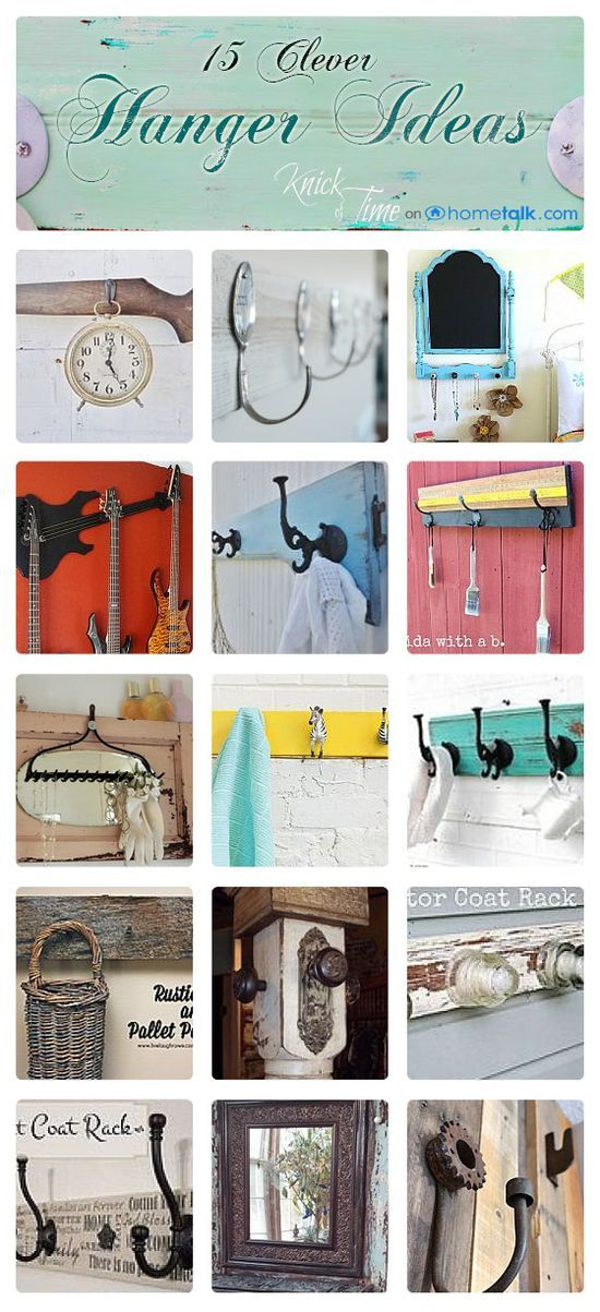 15 Clever Hanger Ideas #bathroom decorating before and after