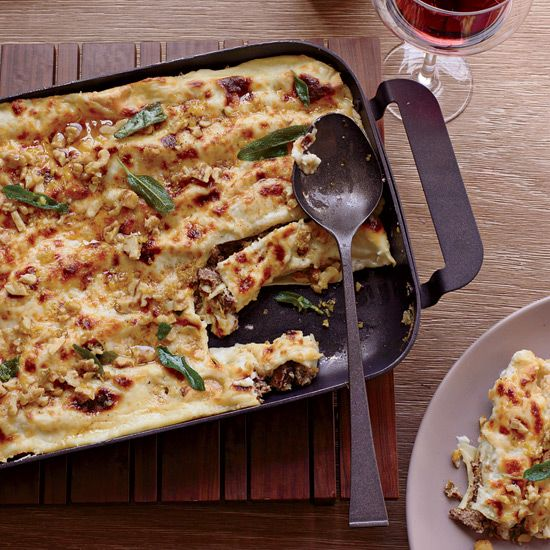 Cannelloni with Walnuts and Fried Sage // More Delicious Baked Pastas: www.foodandwine.c... #foodandwine