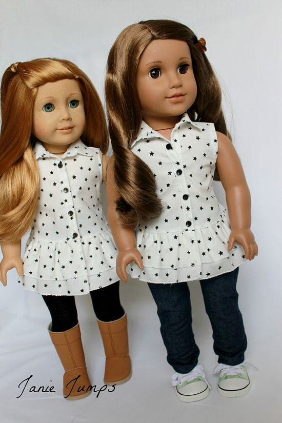 Star Tunic  American Girl Doll Clothes by JanieJumps on Etsy, $16.00
