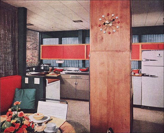1955 atomic-style kitchen by american vintage home VIA flickr