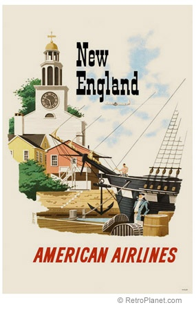 American Airlines Retro Poster