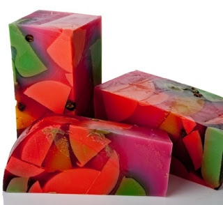Tropical Colors! Handmade soap