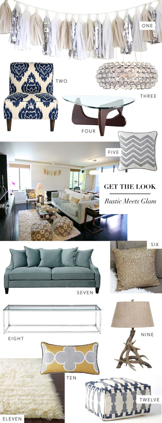 Interior Get The Look: Rustic Meets Glam