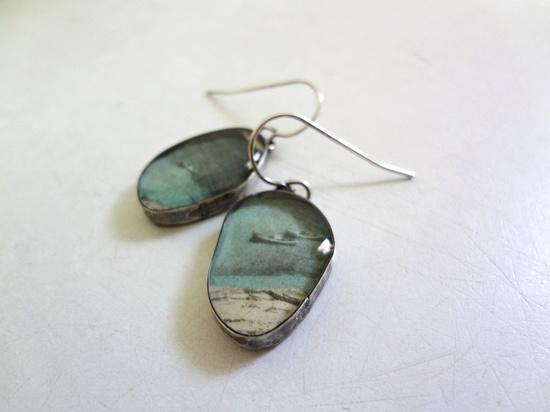 ocean earrings in recycled silver. $85.00, via Etsy.