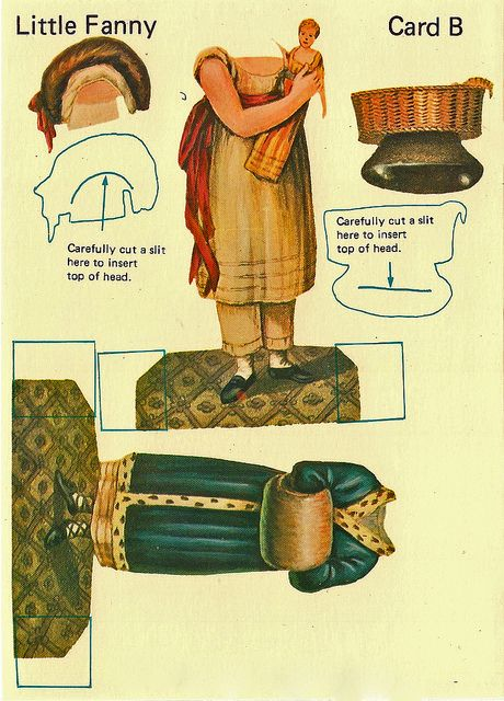 Little Fanny, Vintage paper doll by shelece, via Flickr