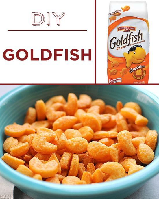 Home-baked goldfish crackers