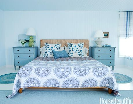 Bedroom in Soft Blues