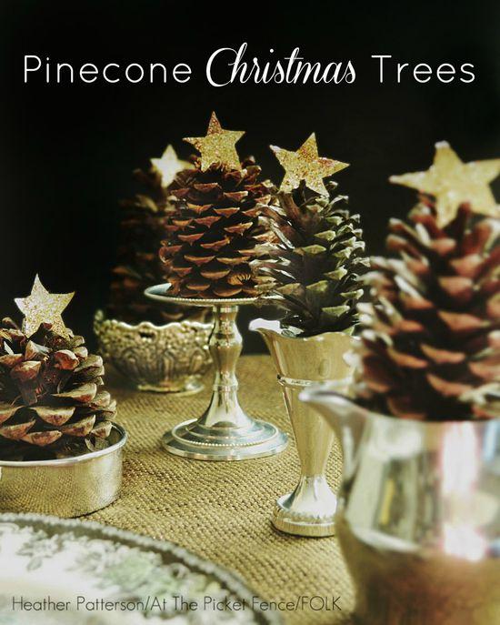 Pinecone Christmas Trees