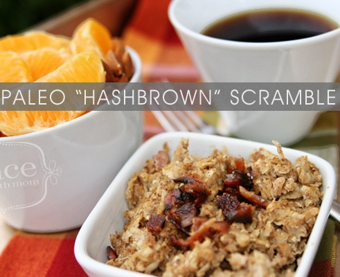"Paleo ""Hashbrown"" Scramble - Great way to start breakfast. Freeze. Thaw. Eat. Freezer meals."