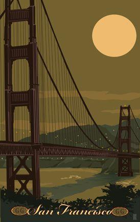 San Fran Travel Poster