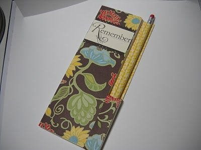 Stampin' All Day With Bev: Note Book Cover Class