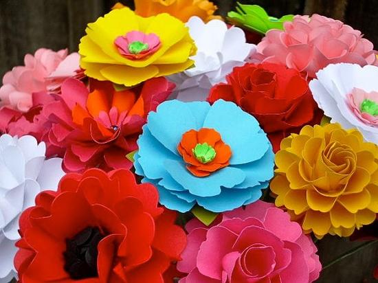 Centerpiece/Bouquet   Handmade Paper Flowers