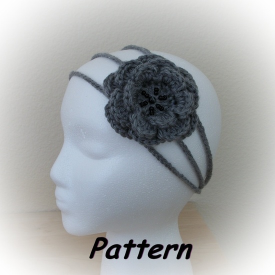 PDF CROCHET Pattern: Three-Strand Rose Headband. $2.99, via Etsy.