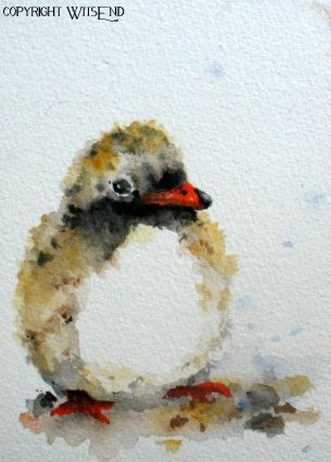 'BEACH BABY', Shore Bird painting Common Tern original watercolor by 4WitsEnd, via Etsy