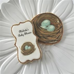 Robin's Nest Decorated Cookies