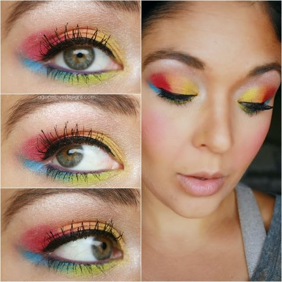 Neon Rainbow Eye Makeup {Requested}