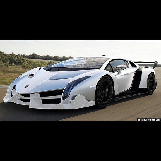 Who said there's no such thing as true love?- White and Black Lamborghini Veneno