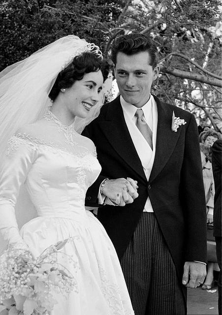 "Elizabeth and Nick (""Nicky"") Hilton, May 1950"