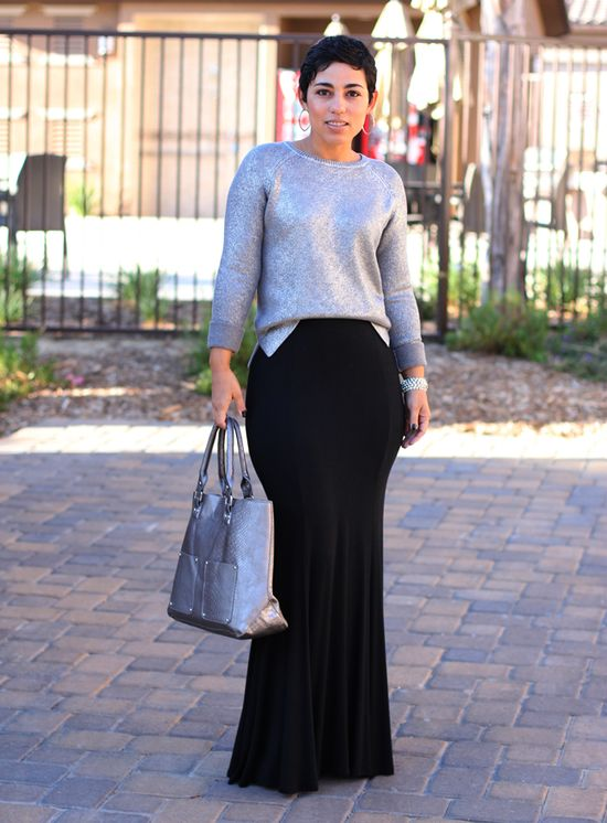 DIY Skirt   Daytime Sparkle Sweater