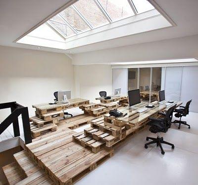 Wooden Pallets in Office Design