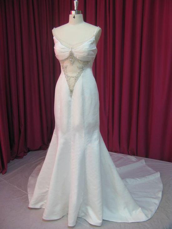 Grecian Bridal Gown Wedding Dress Mermaid by WeddingDressFantasy, $659.00