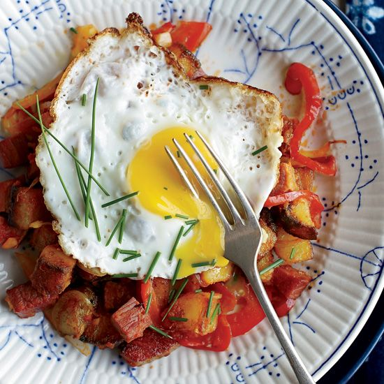 Corned Beef Hash with Fried Eggs // More Amazing Breakfasts: www.foodandwine.c... #foodandwine